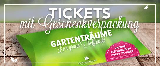 Gartenträume Online Ticket mit Geschenkverpackung